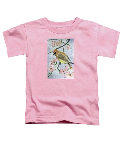A Waxwing In The Dogwood Toddler T-Shirt