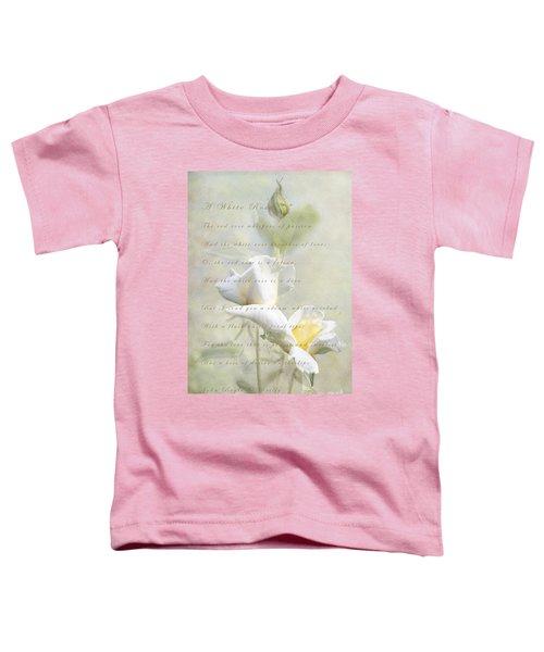 A White Rose Toddler T-Shirt by Linda Lees