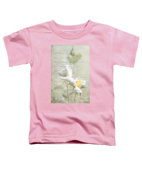 A White Rose Toddler T-Shirt