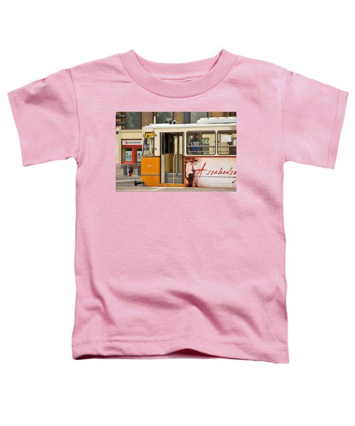 A Yellow Tram On The Streets Of Budapest Hungary Toddler T-Shirt