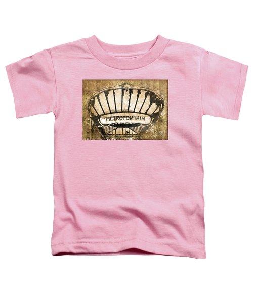 Abbesses Metropolitain Toddler T-Shirt