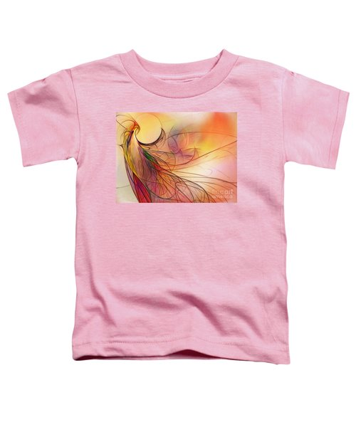 Abstract Art Print Sunday Morning Sidewalk Toddler T-Shirt