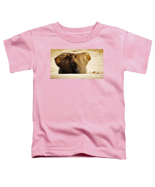 African Elephant Behind A Hill Toddler T-Shirt