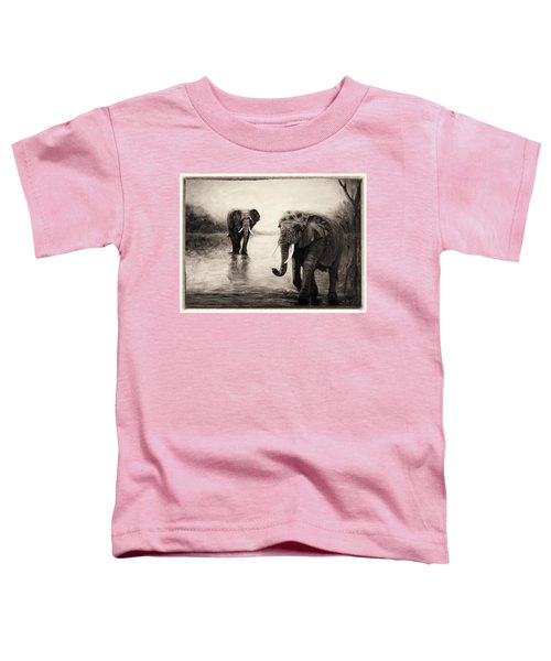 African Elephants At Sunset Toddler T-Shirt