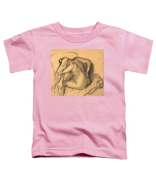 After The Bath .woman Drying Her Hair Toddler T-Shirt