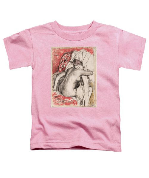 After The Bath.seated Woman Drying Herself Toddler T-Shirt