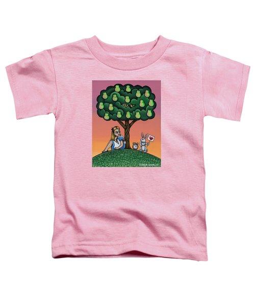 Alice In Wonderland Art Toddler T-Shirt