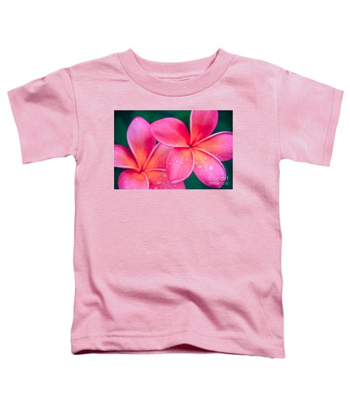 Aloha Hawaii Kalama O Nei Pink Tropical Plumeria Toddler T-Shirt