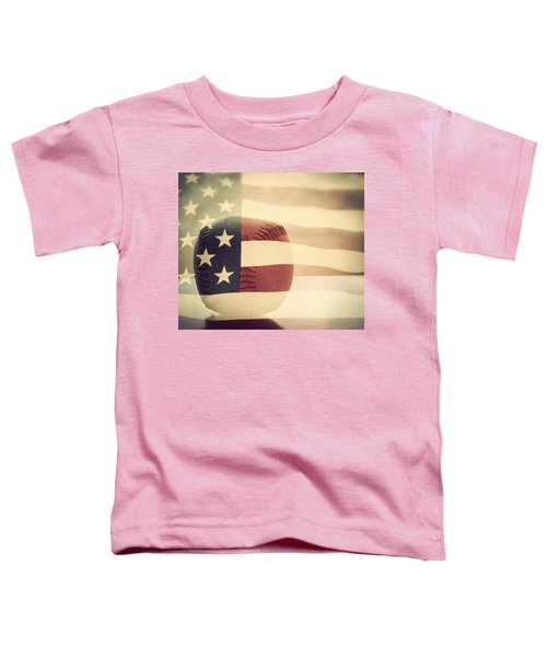 Americana Baseball  Toddler T-Shirt by Terry DeLuco