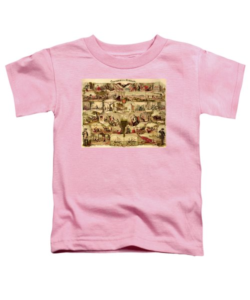 Antique Centennial Mirror Of The United States 1776-1876 Toddler T-Shirt