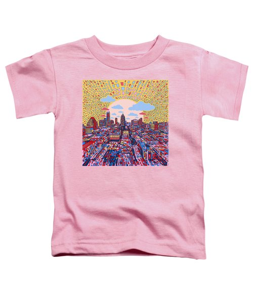 Austin Texas Abstract Panorama 2 Toddler T-Shirt by Bekim Art