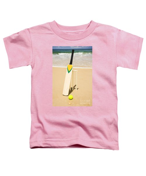 Bat Ball And Stumps Toddler T-Shirt by Jorgo Photography - Wall Art Gallery