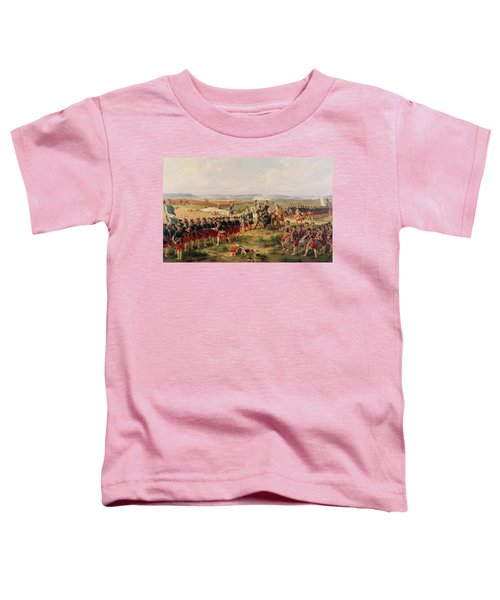 Battle Of Fontenoy, 11 May 1745 The French And Allies Confronting Each Other Toddler T-Shirt