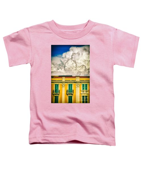 Toddler T-Shirt featuring the photograph Big Cloud Over City Building by Silvia Ganora