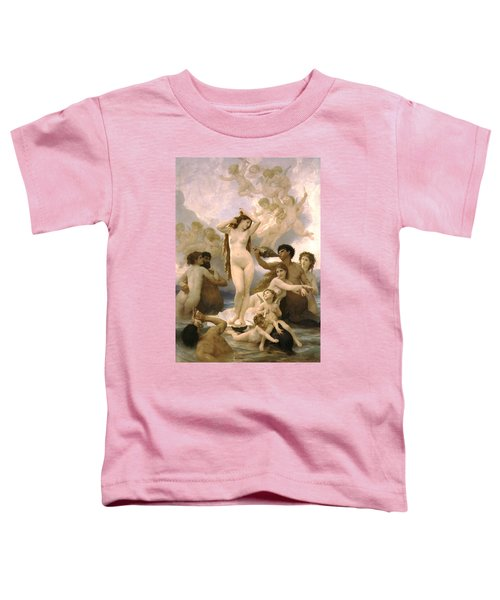 Birth Of Venus Toddler T-Shirt by William Bouguereau