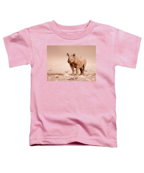 Black Rhinoceros Baby Toddler T-Shirt