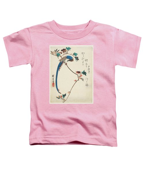 Blue Magpie On Maple Branch Toddler T-Shirt