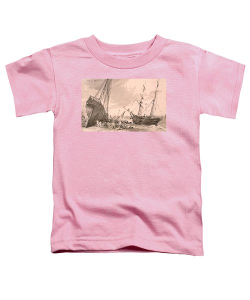 Brighton Coastal Scene With Two Ships Toddler T-Shirt