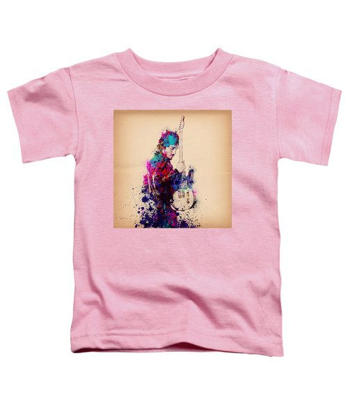 Bruce Springsteen Splats And Guitar Toddler T-Shirt