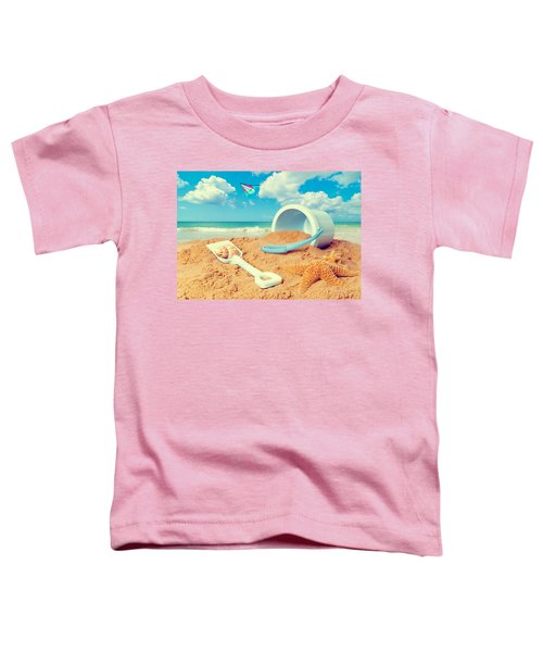 Bucket And Spade On Beach Toddler T-Shirt