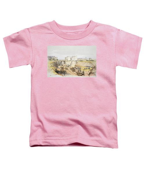 Building The Retaining Wall Near Park Toddler T-Shirt