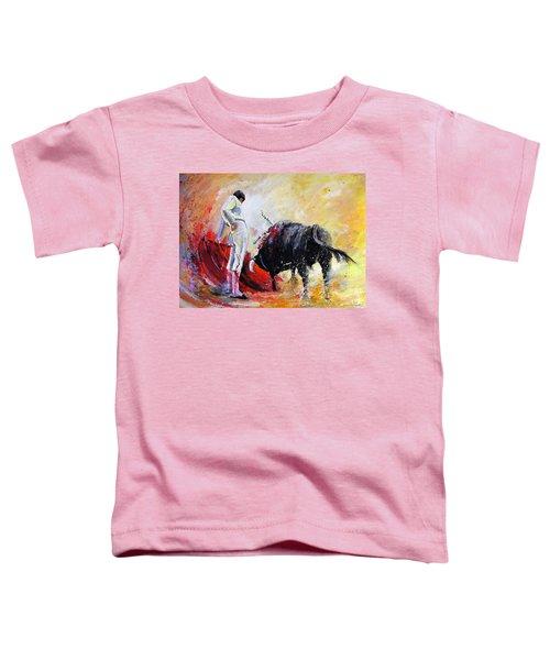 Bull In Yellow Light Toddler T-Shirt