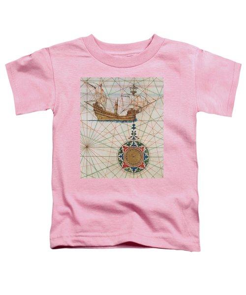 Caravel In Ocean Toddler T-Shirt