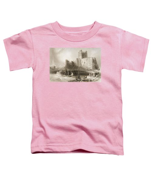 Carrickfergus Castle, County Antrim, Northern Ireland, From Scenery And Antiquities Of Ireland Toddler T-Shirt