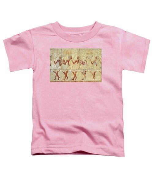 Chapel Of Hathor Hatshepsut Nubian Procession Soldiers - Digital Image -fine Art Print-ancient Egypt Toddler T-Shirt