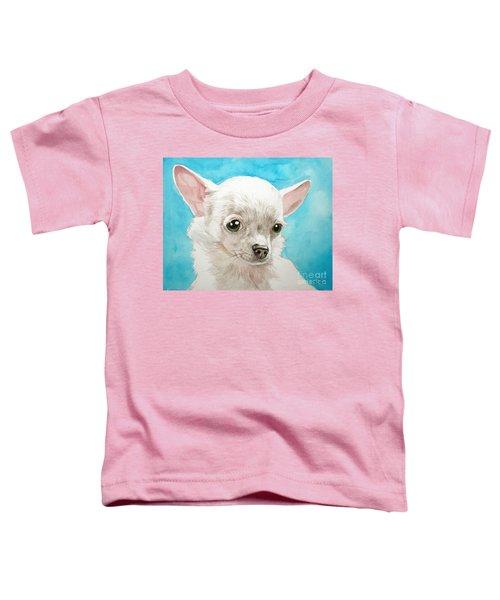 Chihuahua Dog White Toddler T-Shirt