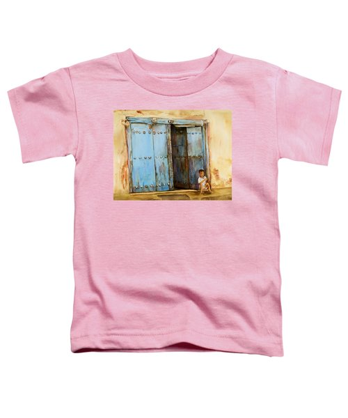 Child Sitting In Old Zanzibar Doorway Toddler T-Shirt
