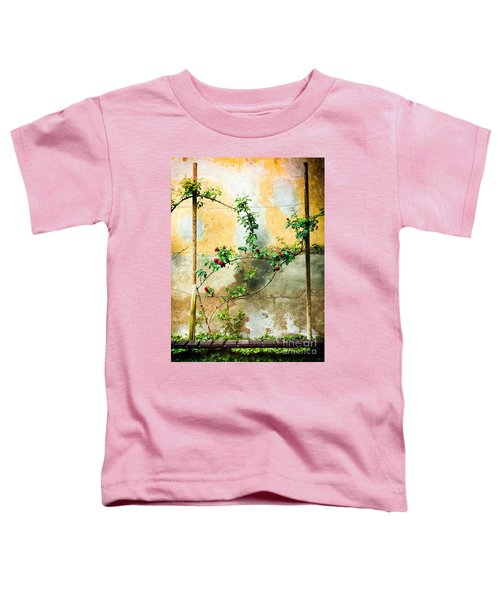 Toddler T-Shirt featuring the photograph Climbing Rose Plant by Silvia Ganora