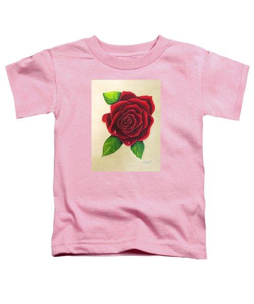 Dark Red Rose Toddler T-Shirt
