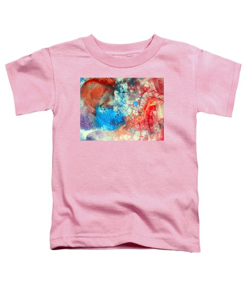 Decalcomaniac Colorfield Abstraction Without Number Toddler T-Shirt
