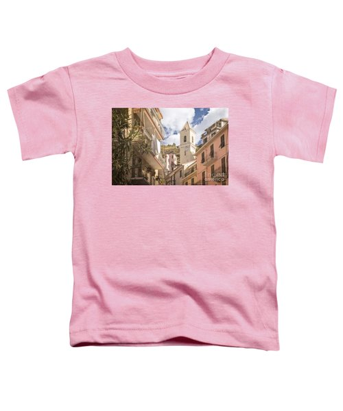 Duomo Bell Tower Of Manarola Toddler T-Shirt