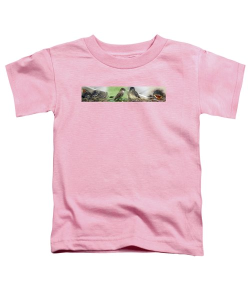 Eastern Phoebe Family Toddler T-Shirt