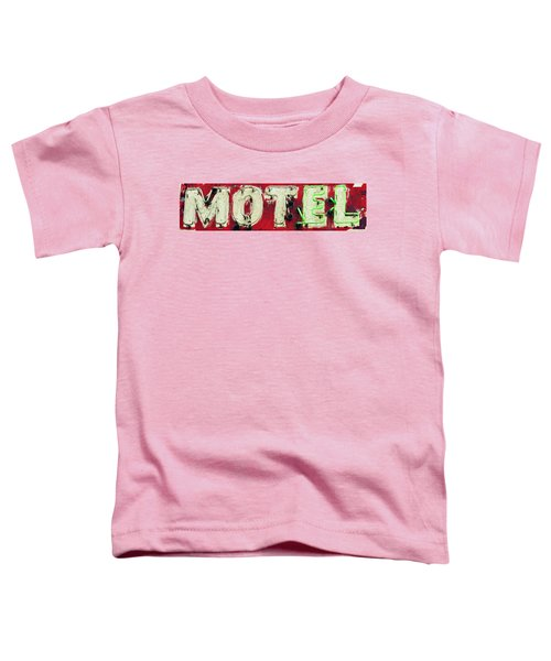 Toddler T-Shirt featuring the photograph El Motel by Andrea Platt