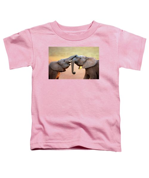 Elephants Touching Each Other Toddler T-Shirt