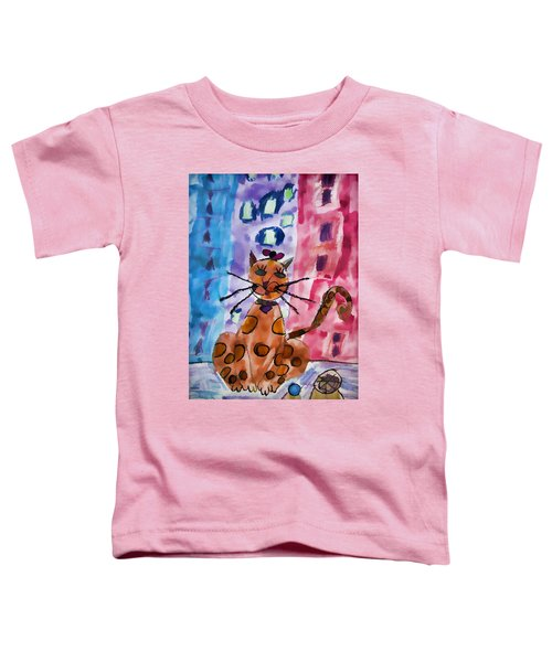 Emma's Spotted Kitty Toddler T-Shirt