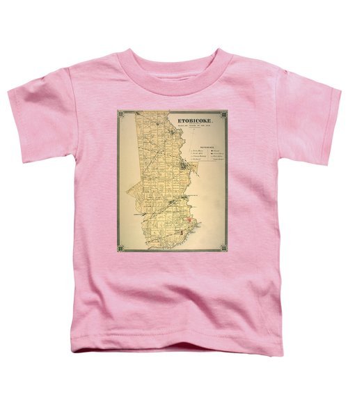 Etobicoke Map 1878 Toddler T-Shirt