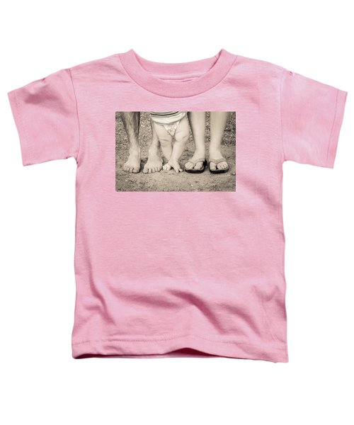 Family Feets Toddler T-Shirt by Bill Pevlor