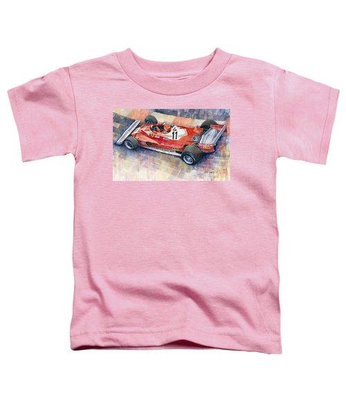 Ferrari 312 T2 Niki Lauda 1977 Monaco Gp Toddler T-Shirt