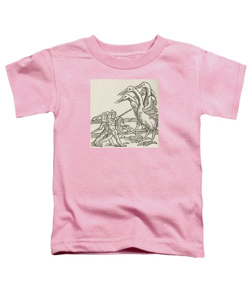 Fight Between Pygmies And Cranes. A Story From Greek Mythology Toddler T-Shirt by English School