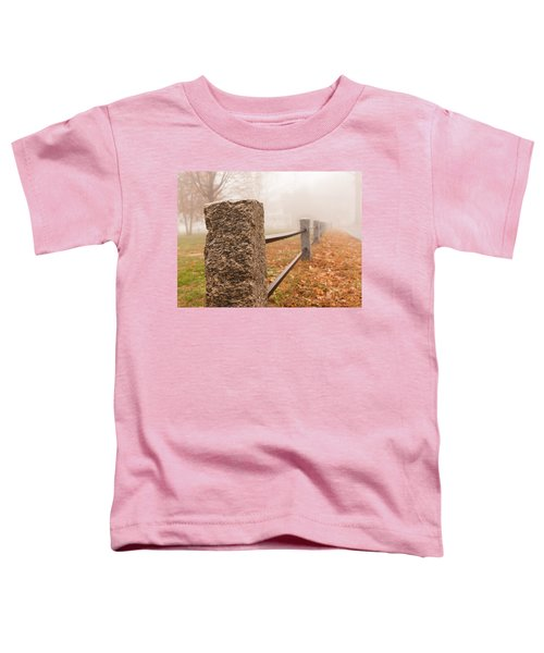 Foggy Morning In Ellington Toddler T-Shirt
