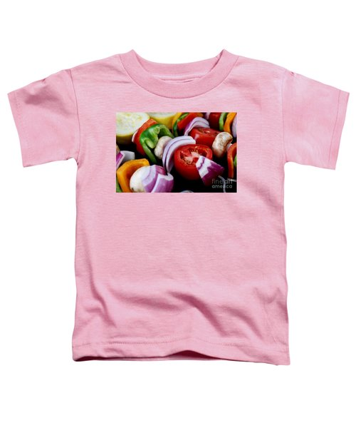 Fresh Veggie Kabobs On The Grill Toddler T-Shirt