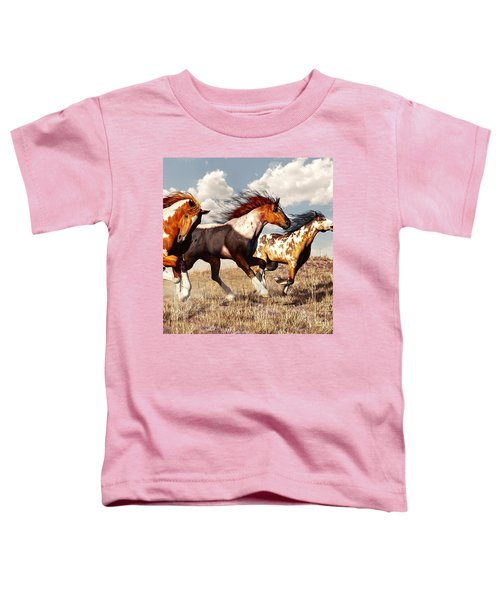 Galloping Mustangs Toddler T-Shirt