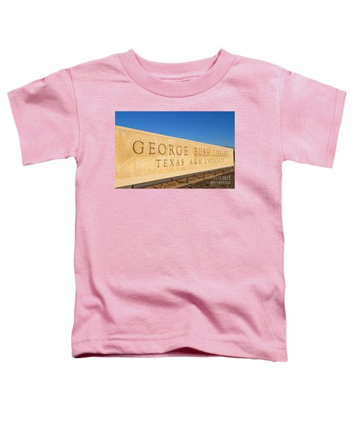 George H. Bush Library, Texas Toddler T-Shirt