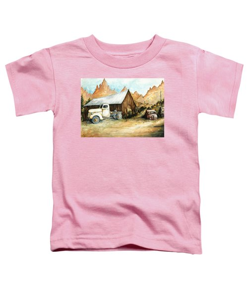 Ghost Town Nevada - Western Art Painting Toddler T-Shirt