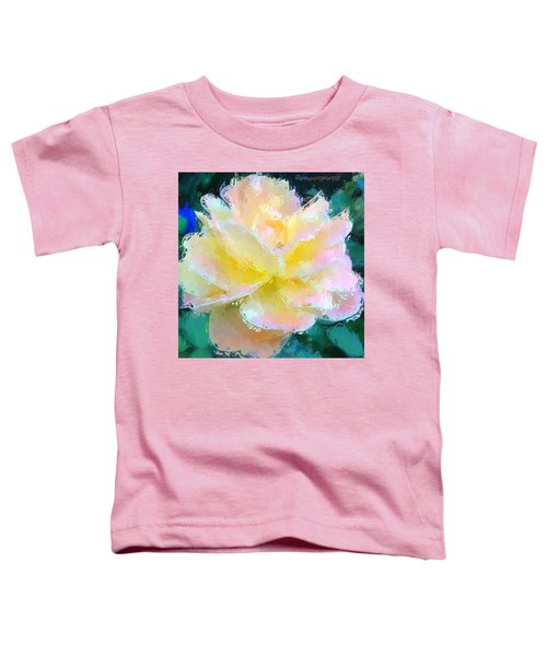 Glazed Pale Pink And Yellow Rose  Toddler T-Shirt