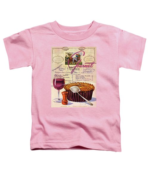Gourmet Cover Illustration Of Deep Dish Pie Toddler T-Shirt